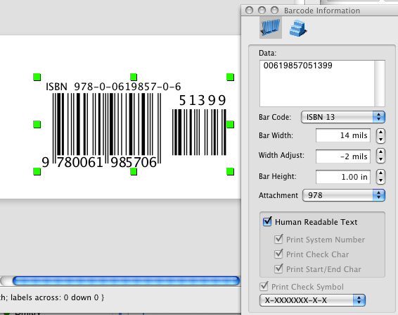 how to generate an ISBN-13 barcode