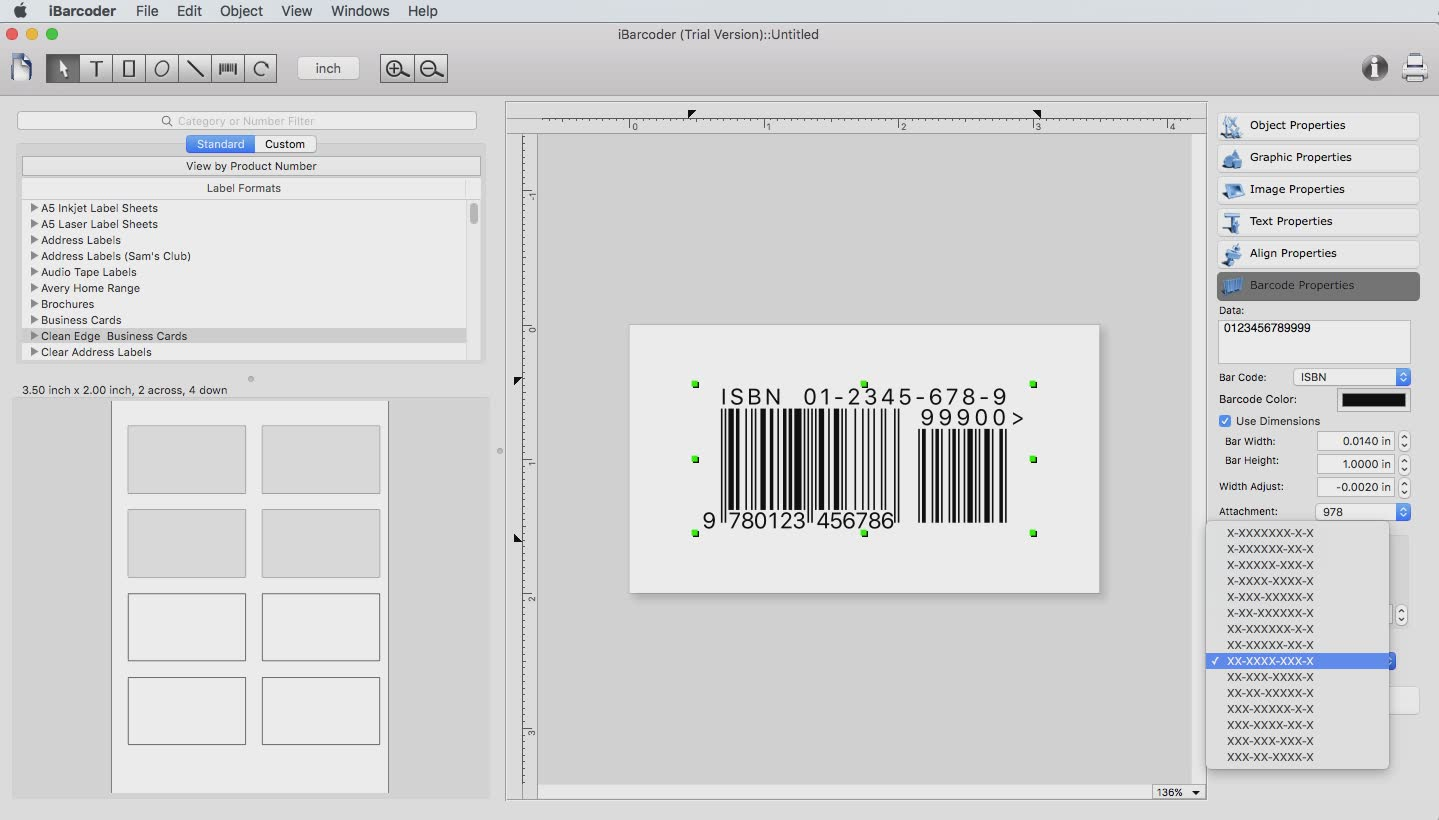 The iBarcoder mac barcode software v 3.12.9 released - Big Sur supported Image